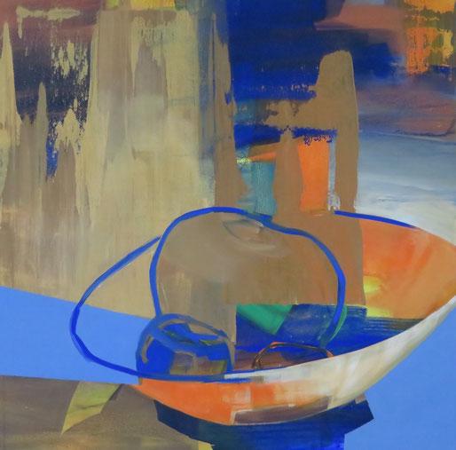 Stilles Leben 10, Acryl auf Leinwand, 100/100 cm, 2018