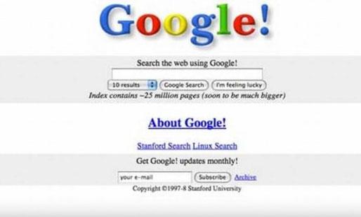 Vor sehr vielen Jahren: Google