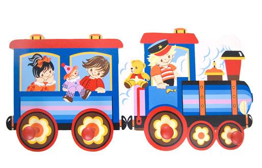 Mertens Kunst Kindergarderobe Eisenbahn
