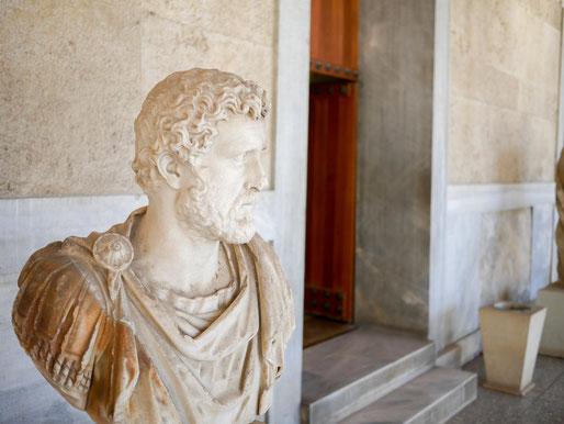 in der Agora haben sich auch alle Kaiser und Feldherren verewigt
