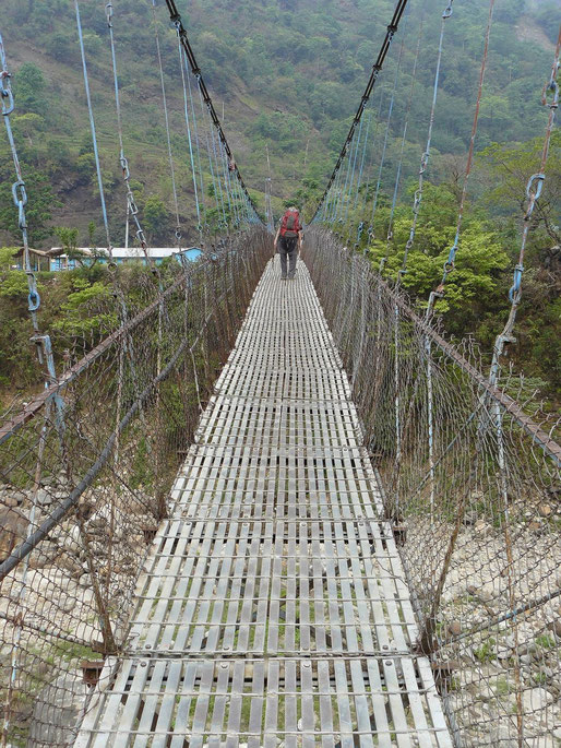 Nepal, Annapurna, Trekking,Hängebrücke