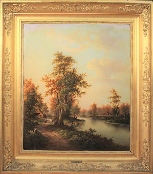 te_koop_aangeboden_een_romantisch_landschaps_schilderij_van_de_nederlandse_kunstschilder_marinus_adrianus_koekkoek_1807-1868