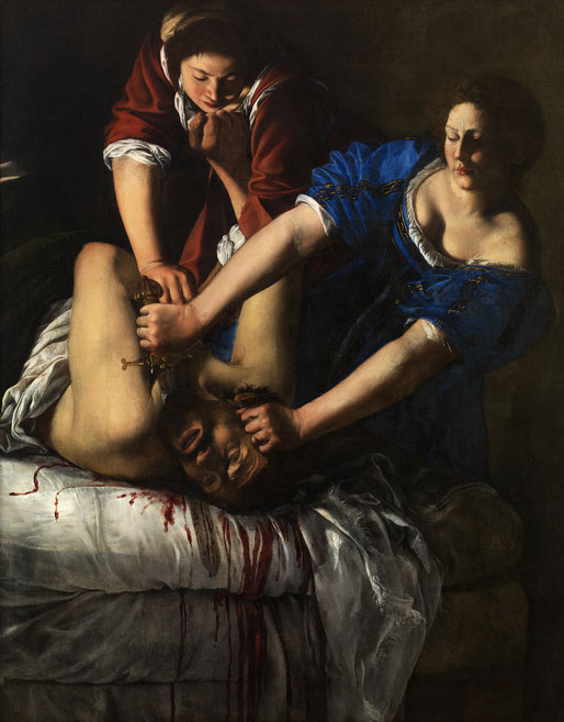 Artemisia Gentileschi, Judith enthauptet Holofernes