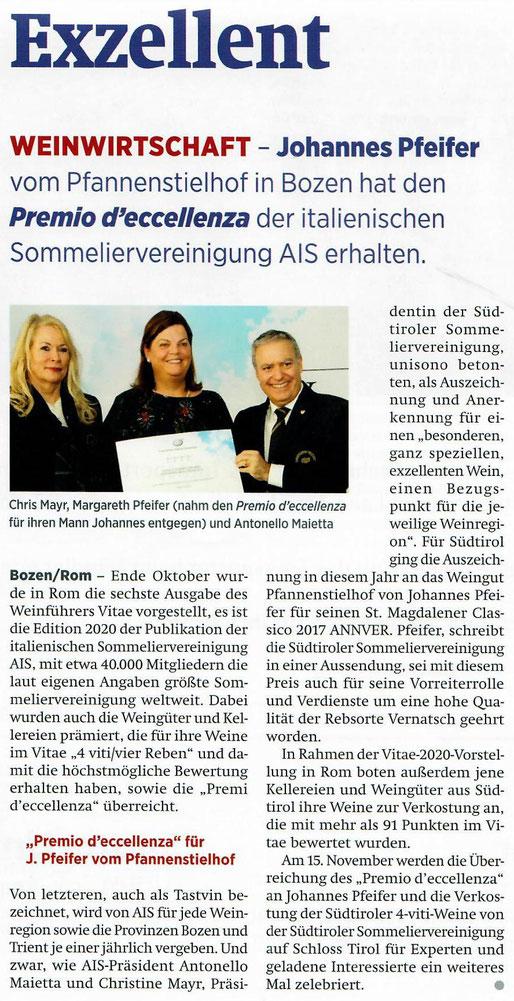 Südtiroler Wirtschaftszeitung, 8. November 2019