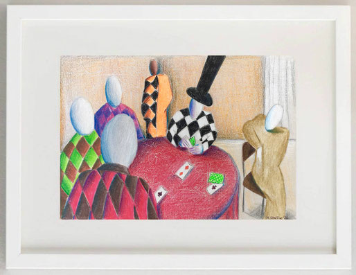 """13 /  MAURO PORETTI, """"RIFLESSI SUL CASSARATE"""", 2011, olio su carta, 20 x 30 cm."""
