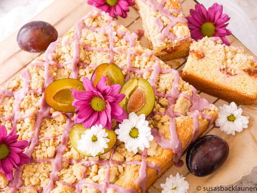 Pflaumen-Streuselkuchen mit Pudding
