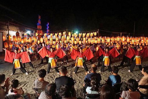 「萬燈祭」境内イベント ④(ゲスト舞踊団体によるダンス奉納)