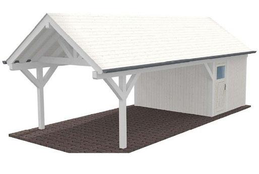 Beispiel Spitzdach Carport
