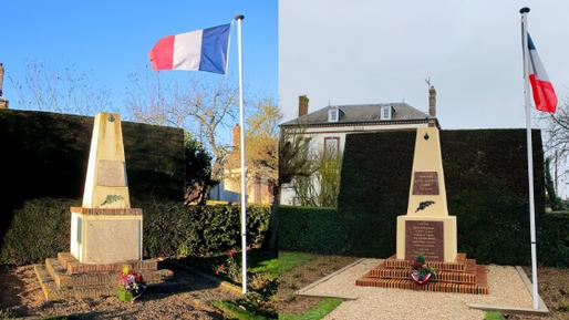 2016 <-      Monument aux Morts restauré     -> 2018