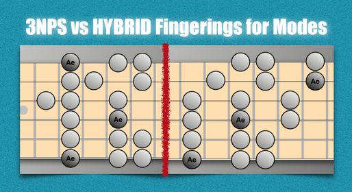 3NPS vs Hybrid Fingerings for Modes