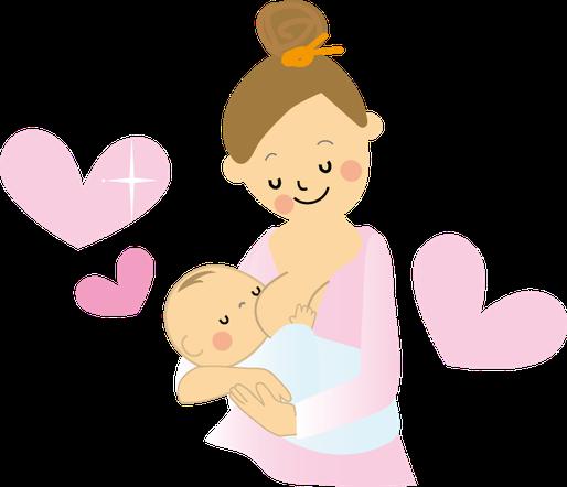 授乳するお母さんのイラスト