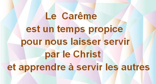 Se laisser servir par le Christ