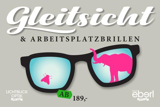 Lichtblick Optik Gleitsicht- oder Arbeitsplatzbrille ab 189,- Euro