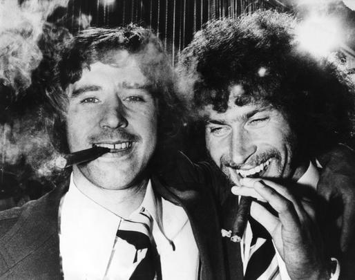 Paul Breitner (à droite) et Gerd Müller (à gauche).