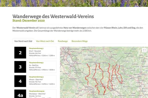 Wanderwege des Westerwald-Vereins