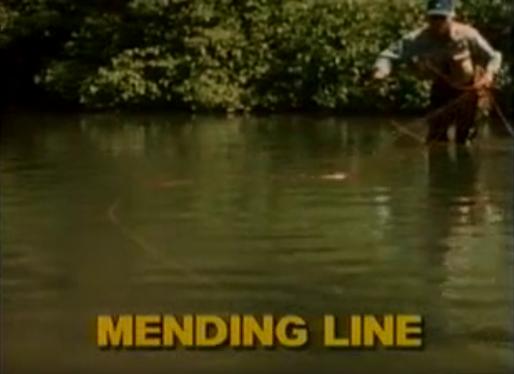 """キャスティングのビデオというより、川のマス釣りのプレゼンテーション全般、いわば実釣のための一連の基本動作を解説した名作といえば、初心者にもじつにわかりやすい1本「ベーシック・フライ・キャスティング・ウィズ・ダグ・スイッシャー」(90分。一時は山と渓谷社刊の日本語版があった )。""""マス釣り""""はこれらの基本動作がなければ始まらない。欧米では需要があるのかDVD化された英語版は現在も販売されているみたい。空前の北海道""""マス釣り""""ブームの今、日本語版の再販を願ってやまぬ1本です。写真はキャプチャー画像より。"""