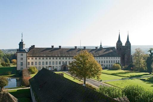 Welterbe Corvey mit Karolingischem Westwerk © Kulturkreis Höxter-Corvey gGmbH