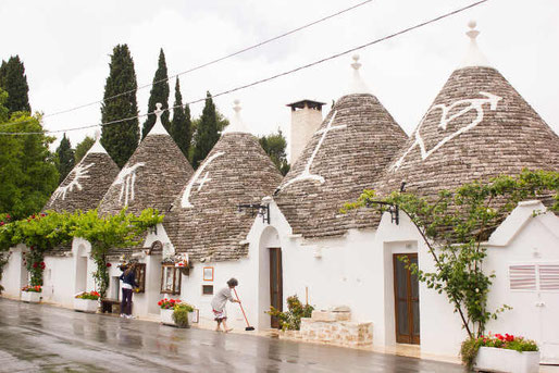 Trullis in Alberobello in Italien