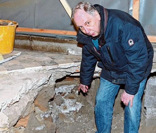 Ist für die archäologischen Arbeiten auf der Baustelle zuständig: Reinhard Heesch.