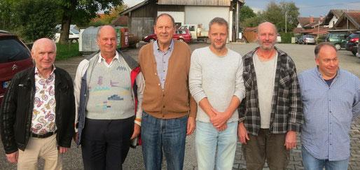 Die Tandemgewinner: v.l. Dritte: Perzul/Kulzer (6090), Sieger Vosseler/Kleffner (7422), Zweite: Holl/Mayer (6253)
