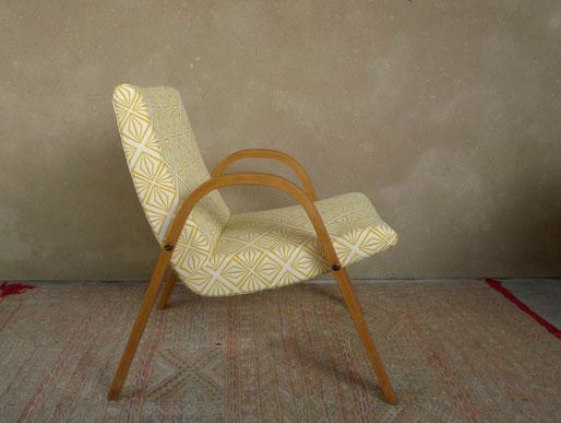 Steiner, fauteuil Steiner, fauteuil vintage, fauteuil Bow wood, bois courbé, fauteuil Steiner vintage