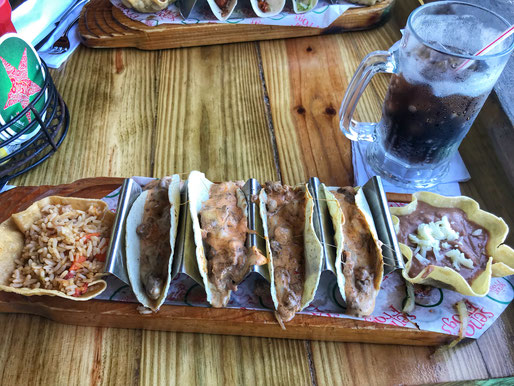 Tacos bei Crazy Frog in Downtown Nassau