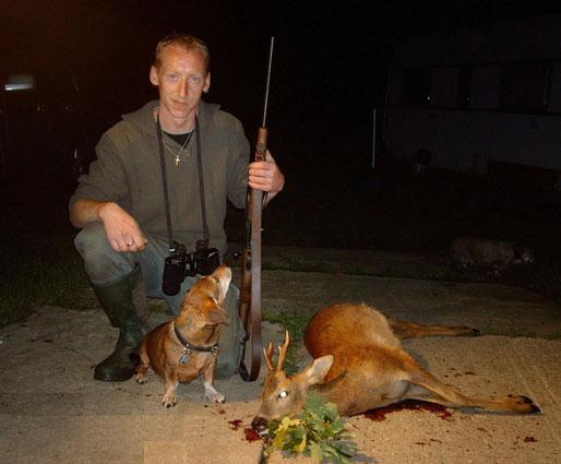 Sven und Lissy nach der Jagd