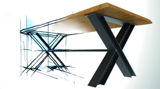UnikatTisch, Tisch auf Maß, Baumtisch, Charaktertisch, Naturtisch, Naturkante, Baumkante, Waldkante, Monolitplatte, Holzplatte, Naturplatte, Baumscheibe, Baumscheibentisch, Unikatplatte, Stahlgestell, Designgestell, Tischgestell, auf Maß, Anfertigung, NRW