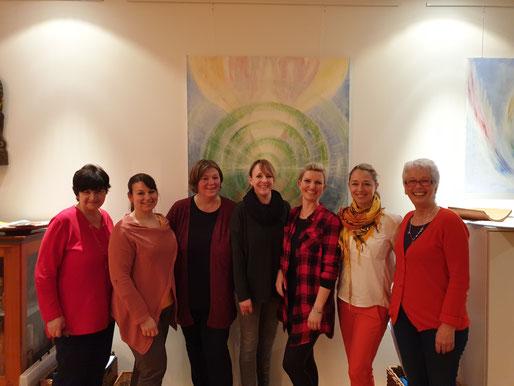 Gruppenbild der Teilnehmerinnen des Achtsamkeitsseminar