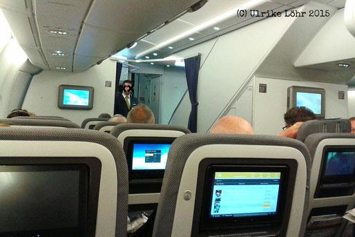 in der Premium Economy des Lufthansa A380-800