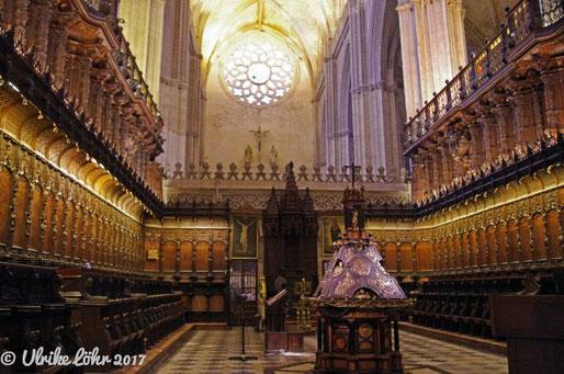 Chorgestühl in der Kathedrale von Sevilla