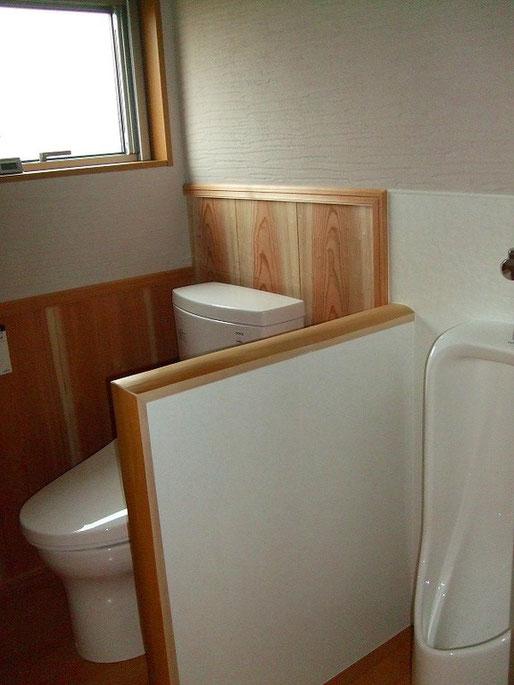 仕切り無しのオープントイレ