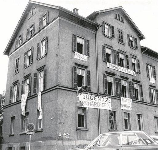 Das Epplehaus am 23. Juli 1972, Bild: epplehaus.de.*