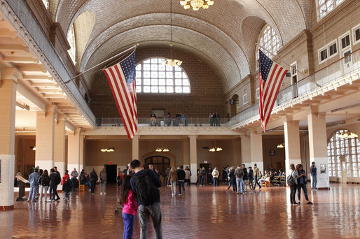 The Immigration Hall of Ellis Island, New York