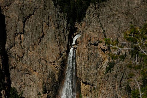 The majestic Bucking Mule Falls at Devil's Canyon, Bighorn Mountains