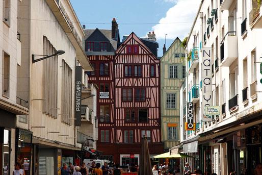 Rouen, Fachwerkhäuser in der Altstadt