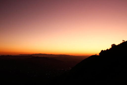 Sonnenuntergang Los Angeles, Sonnenuntergang am Hollywood Sign