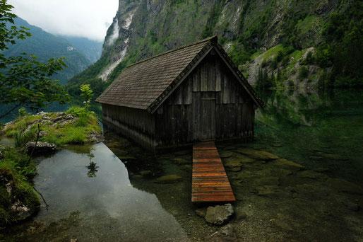 Obersee Königssee, Berchtesgaden, die schönsten Seen in Deutschland