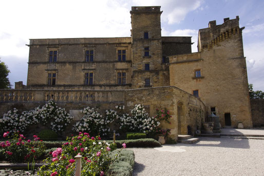 the Lourmarin castle, built in the 15th century