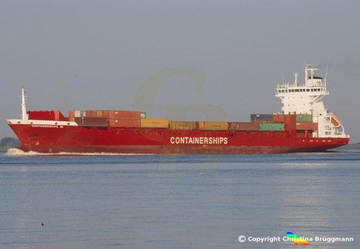 Containerships VI, eines der Containerschiffe der finnischen Containerships PLC