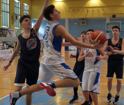 Capitan Panero in azione. Per lui una prova da 16 punti - Guido Fissolo ph.