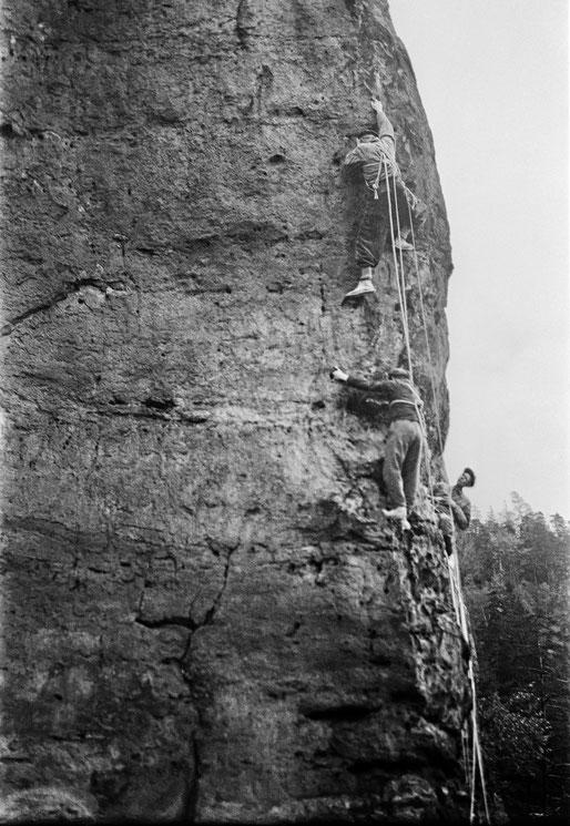 Seilschaft am Lolaturm, Foto: Erich Gorlt