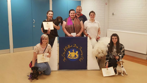 Komondor, Rasta, gaining his Bronze Canine Good Citizen award.