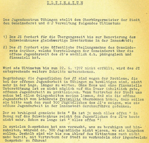 Ultimatum an die Stadt, Bild: epplehaus.de.*