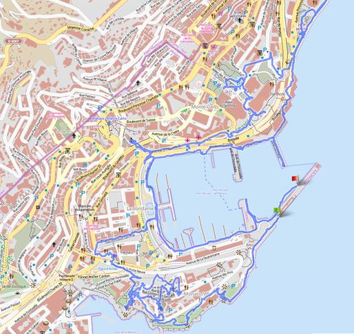 Unsere Spur durch Monaco