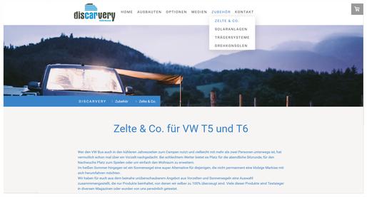 Der neue Shopbereich für ausgewähltes VW Campingbus und VW Camper Zubehör