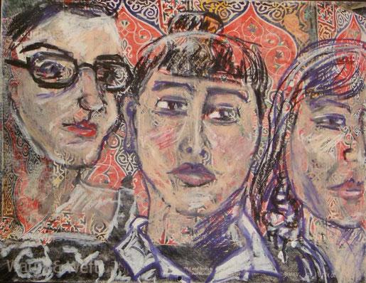 """""""drei junge Frauen"""" - EVA"""