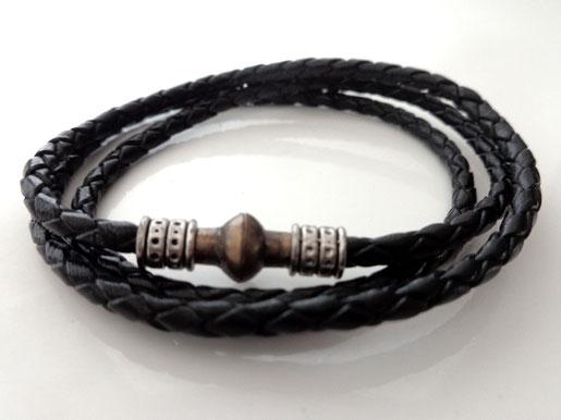 Bracelet cuir tressé #1