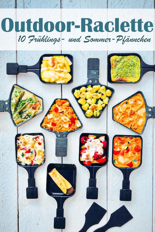 Auf der Suche nach tollen Ideen für Raclette im Sommer oder Frühling? Dann bitte hier entlang für Spargel-Pfännchen, Bärlauch-Gnocchi-. Zoodles-. Früchte-Baiser-, Kritharaki-, Bärlauch-Omlette-Pfännchen etc.