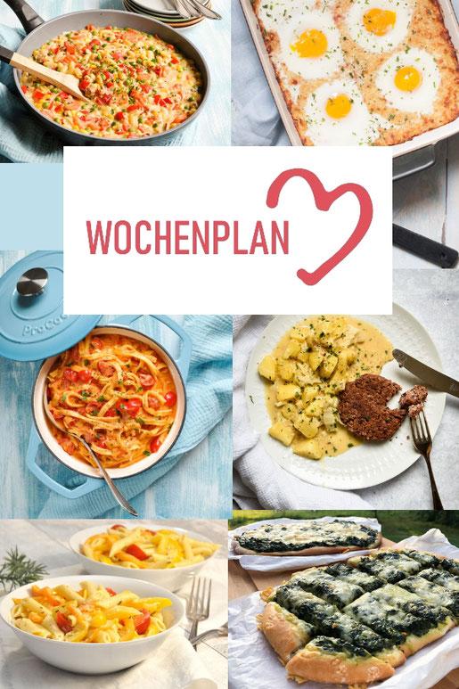 Was soll es die Woche bloß zu essen geben? Ich habe dir hier eine ganze Woche an leckeren Rezepten zusammengestellt - du kannst sie alle vegan oder vegetarisch kochen - der mix dich glücklich Wochenplan für den Thermomix - Nummer 3